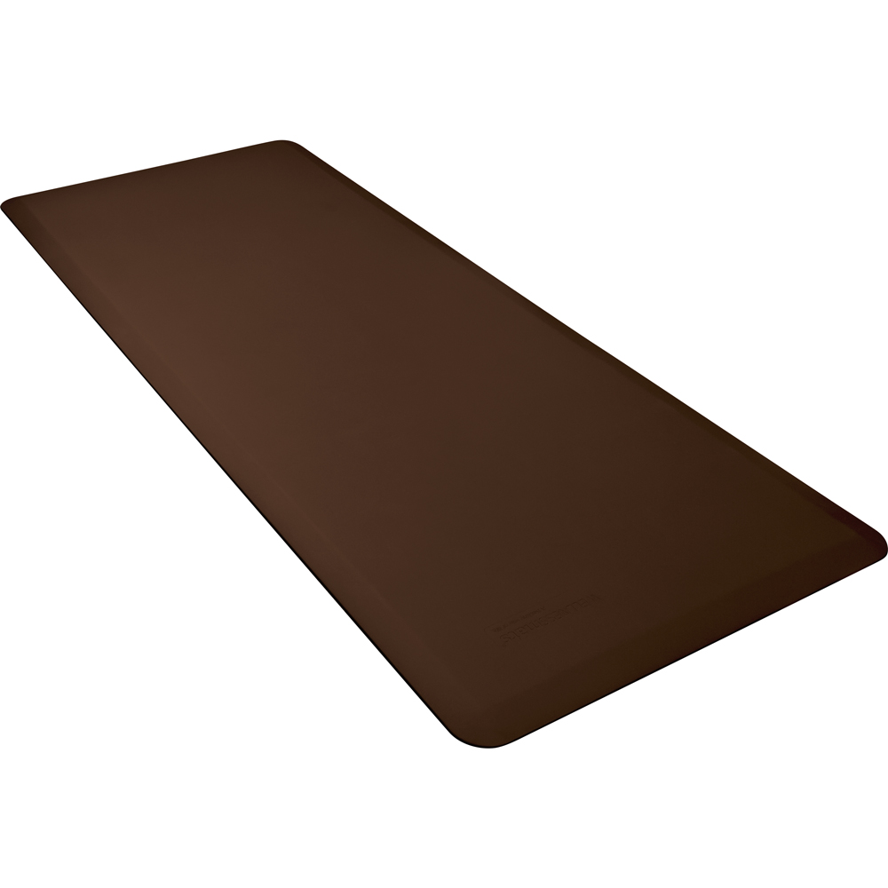 Wellness Mats FIT6BRN Fitness Mat w/ No-Trip Beveled Edge & Non-Slip Material, 6x2.5-ft, Brown