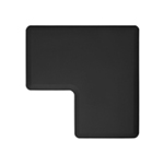 Wellness Mats LINK290BLK 90-Degree Corner Mat w/ No-Trip Beveled Edge & Non-Slip Material, 2-ft W, Black