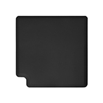 Wellness Mats LINK390BLK 90-Degree Corner Mat w/ No-Trip Beveled Edge & Non-Slip Material, 3-ft W, Black