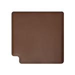 Wellness Mats LINK390BRN 90-Degree Corner Mat w/ No-Trip Beveled Edge & Non-Slip Material, 3-ft W, Brown