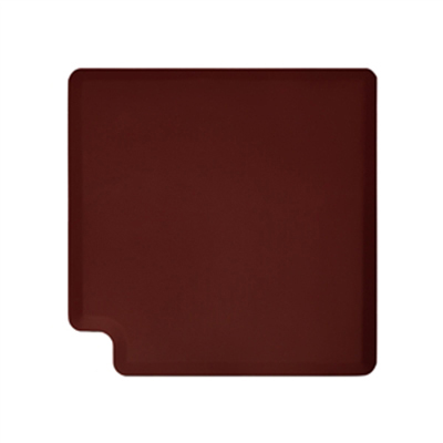 Wellness Mats LINK390BUR 90-Degree Corner Mat w/ No-Trip Beveled Edge & Non-Slip Material, 3-ft W, Burgundy