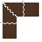 Wellness Mats LS3WMP7575BRN L-Series Puzzle Piece Collection w/ Non-Slip Top & Bottom, 7.5x7.5x3-ft, Brown