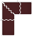 Wellness Mats LS3WMP87BUR L-Series Puzzle Piece Collection w/ Non-Slip Top & Bottom, 8x7x3-ft, Burgundy