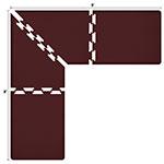 Wellness Mats LS3WMP88BUR L-Series Puzzle Piece Collection w/ Non-Slip Top & Bottom, 8x8x3-ft, Burgundy