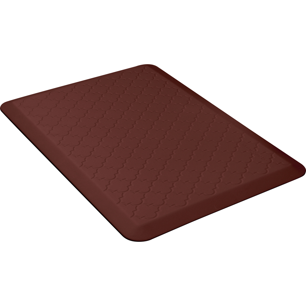 Wellness Mats MT32WMRBUR Textured Pattern Mat, 3 x 2-ft, Poly, No-Slip, Burgundy
