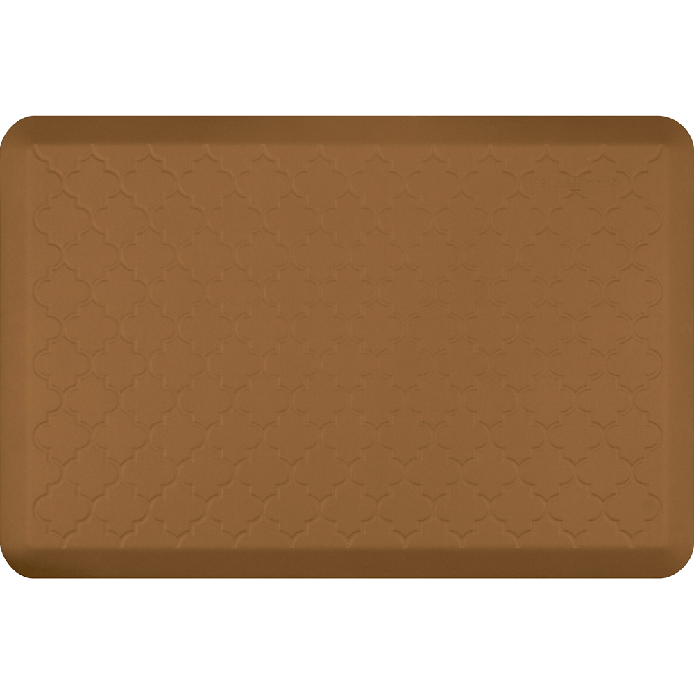 Wellness Mats MT32WMRTAN Textured Patterns Mat, 3 x 2-ft, Poly, No-Slip, Tan