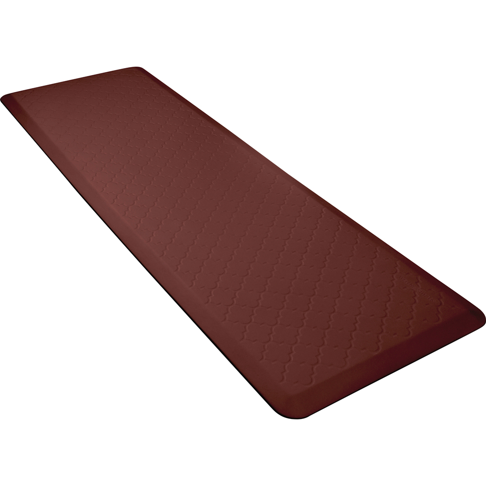 Wellness Mats MT62WMRBUR Textured Pattern Mat, 6 x 2-ft, Poly, No-Slip, Burgundy