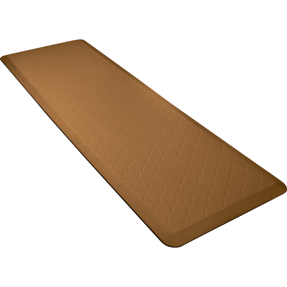 Wellness Mats MT62WMRTAN Textured Patterns Mat, 6 x 2-ft, Poly, No-Slip, Tan
