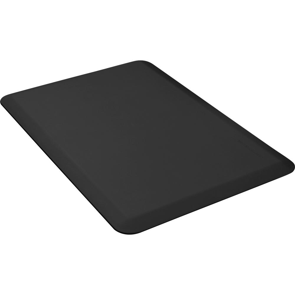 Wellness Mats P32WMRBLK Wellness Mat w/ No-Trip Beveled Edge & Non-Slip Material, 3x2-ft, Black
