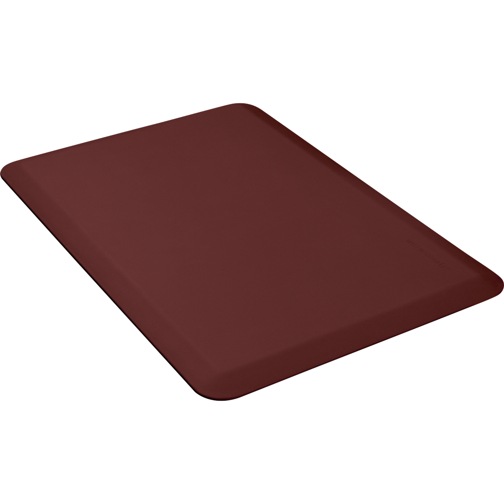 Wellness Mats P32WMRBUR Wellness Mat w/ No-Trip Beveled Edge & Non-Slip Material, 3x2-ft, Burgundy