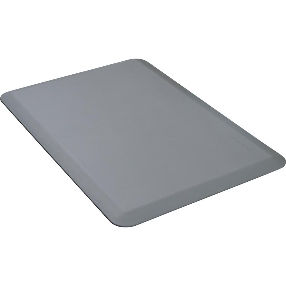 Wellness Mats P32WMRGRY Wellness Mat w/ No-Trip Beveled Edge & Non-Slip Material, 3x2-ft, Gray