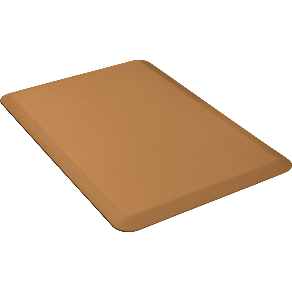 Wellness Mats P32WMRTAN Wellness Mat w/ No-Trip Beveled Edge & Non-Slip Material, 3x2-ft, Tan