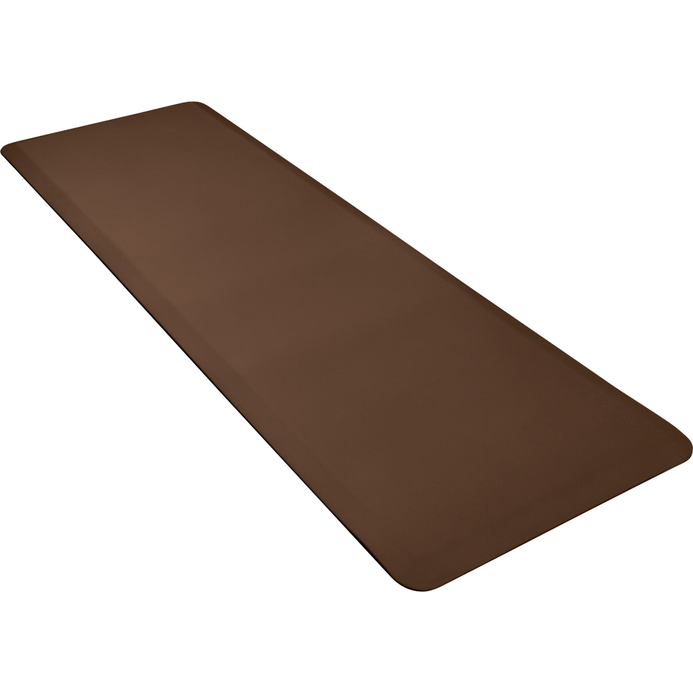 Wellness Mats P62WMRBRN Wellness Mat w/ No-Trip Beveled Edge & Non-Slip Material, 6x2-ft, Brown