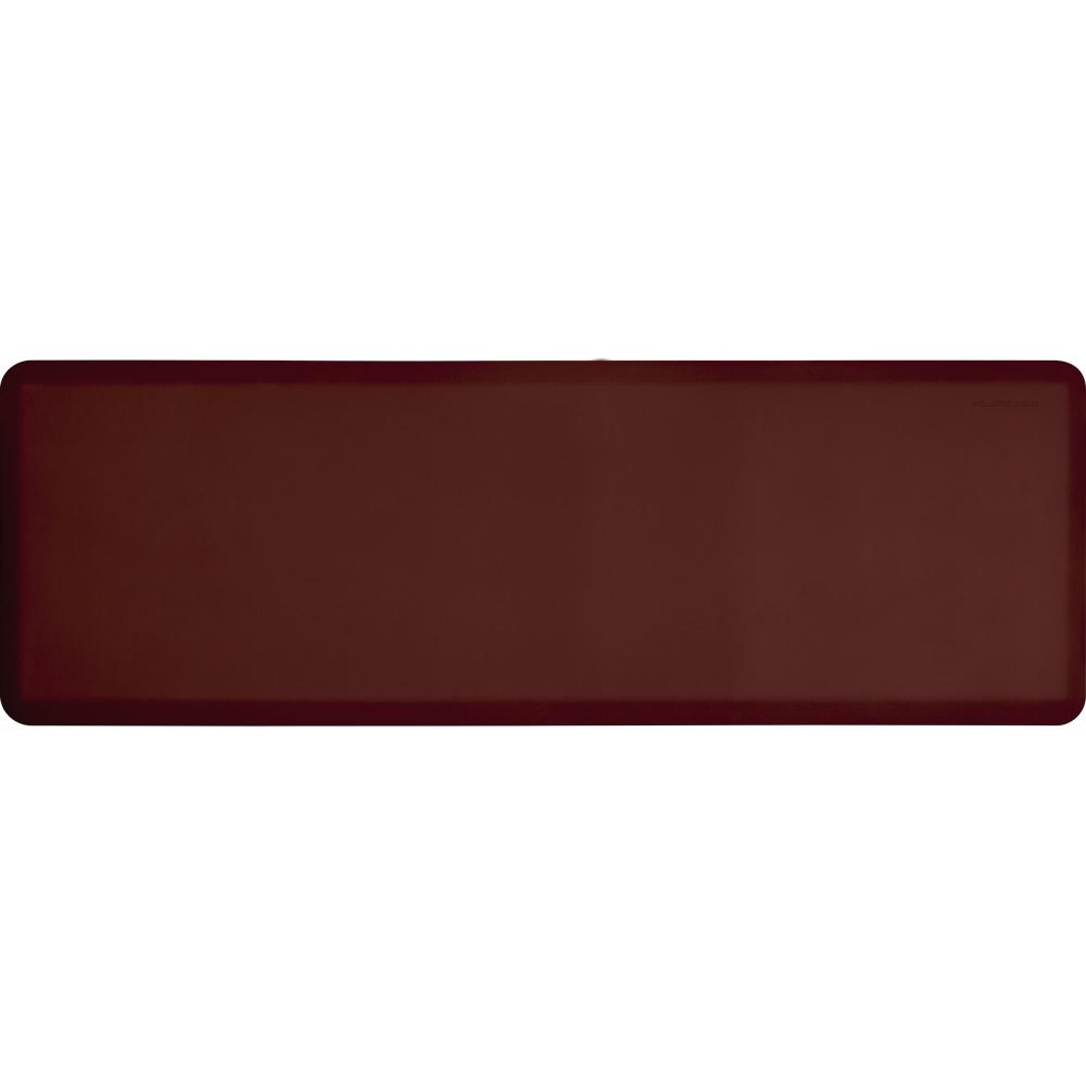 Wellness Mats P62WMRBUR Wellness Mat w/ No-Trip Beveled Edge & Non-Slip Material, 6x2-ft, Burgundy