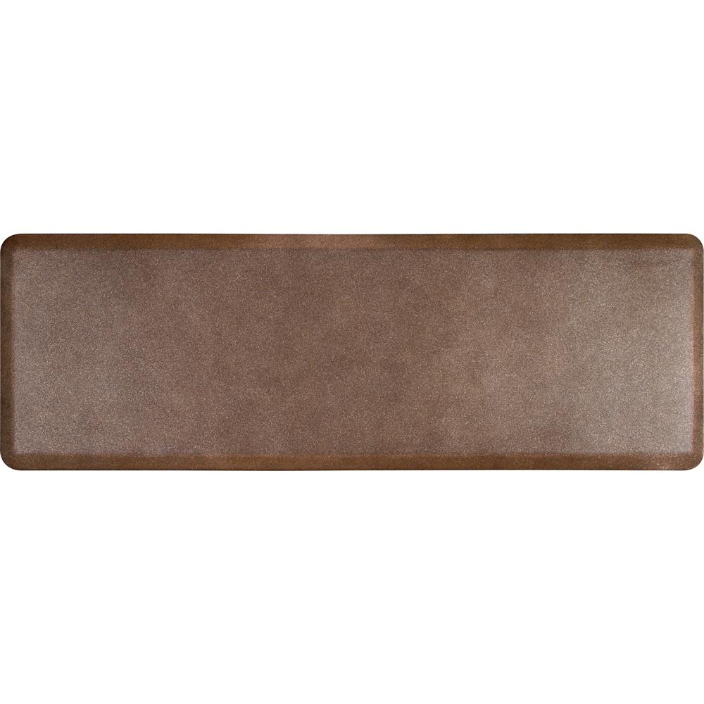 Wellness Mats P62WMRGC Wellness Mat w/ No-Trip Beveled Edge & Non-Slip Material, 6x2-ft, Granite Copper