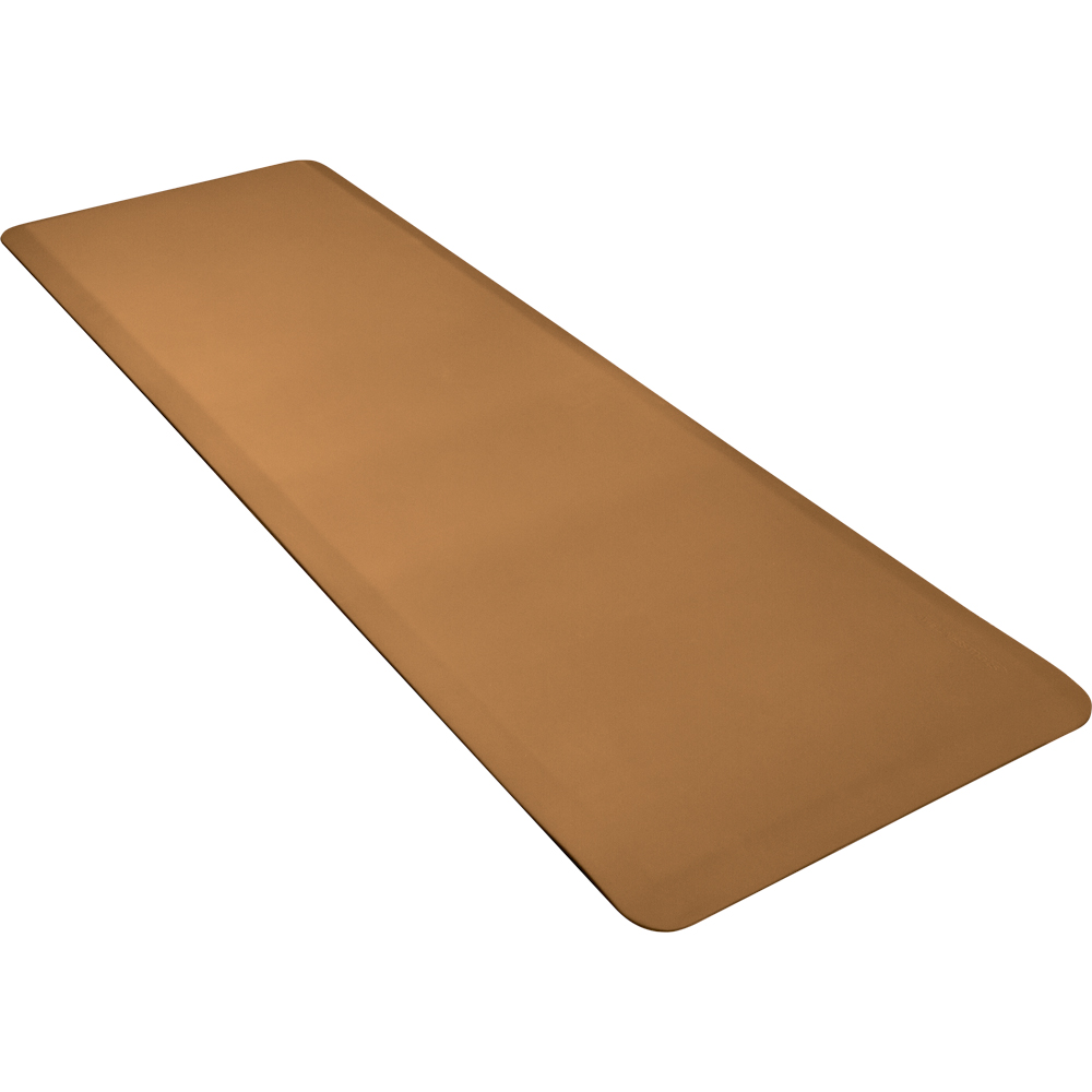 Wellness Mats P62WMRTAN Wellness Mat w/ No-Trip Beveled Edge & Non-Slip Material, 6x2-ft, Tan