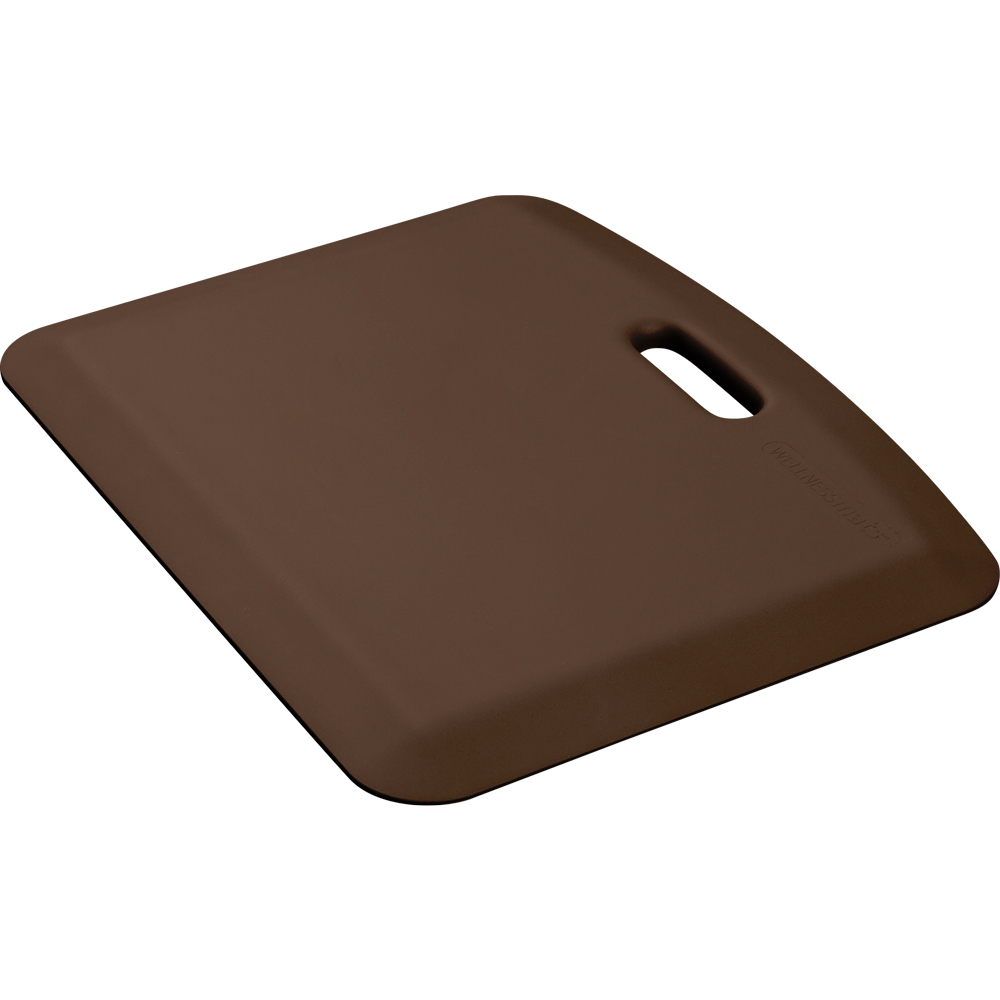 Wellness Mats PCOMPWMRBRN Companion Mat w/ No-Trip Beveled Edge & Non-Slip Material, 22x18-in, Brown