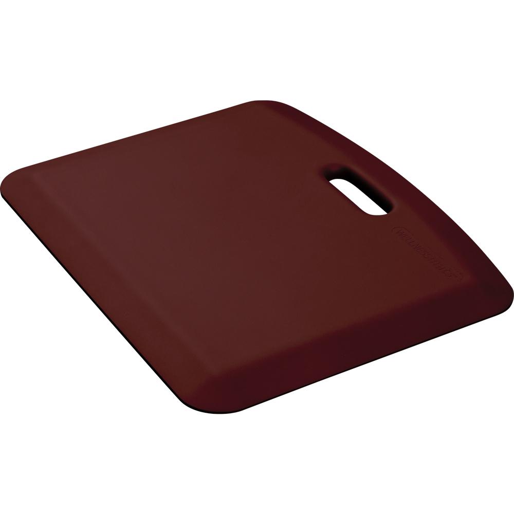 Wellness Mats PCOMPWMRBUR Companion Mat w/ No-Trip Beveled Edge & Non-Slip Material, 22x18-in, Burgundy