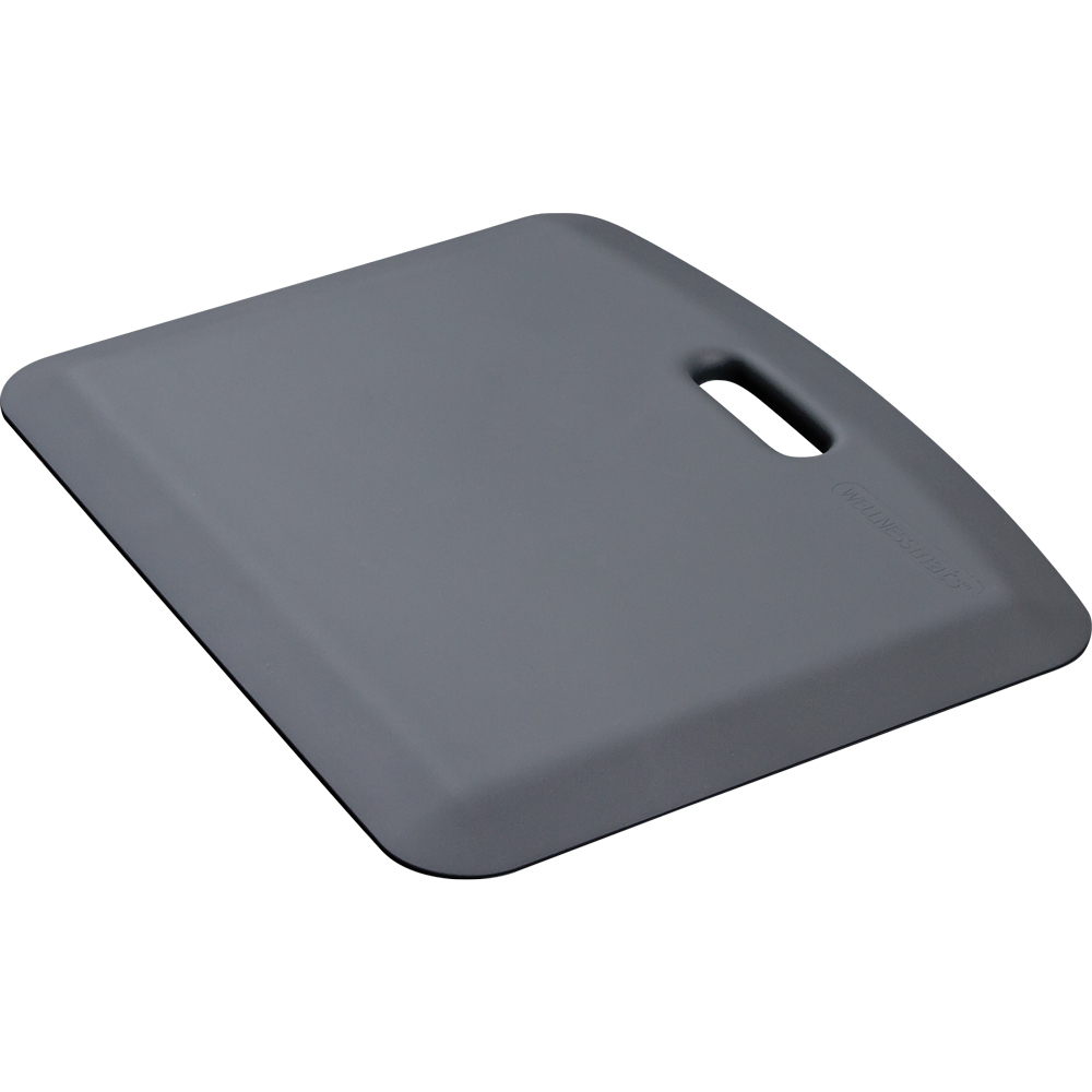 Wellness Mats PCOMPWMRGRY Companion Mat w/ No-Trip Beveled Edge & Non-Slip Material, 22x18-in, Gray