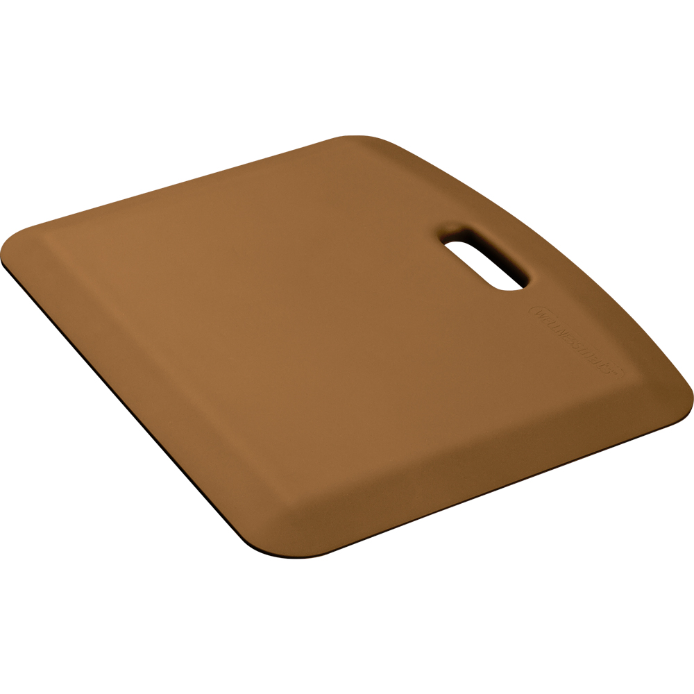 Wellness Mats PCOMPWMRTAN Companion Mat w/ No-Trip Beveled Edge & Non-Slip Material, 22x18-in, Tan