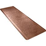Wellness Mats PMB62WMRLT Bella Motif Mat w/ No-Trip Beveled Edge & Non-Slip Material, 6x2-ft, Antique Light