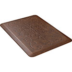 Wellness Mats PME32WMRLT Entwine Motif Mat w/ No-Trip Beveled Edge & Non-Slip Material, 3x2-ft, Antique Light