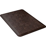 Wellness Mats PMM32WMRDB Moire Motif Mat w/ No-Trip Beveled Edge & Non-Slip Material, 3x2-ft, Antique Dark