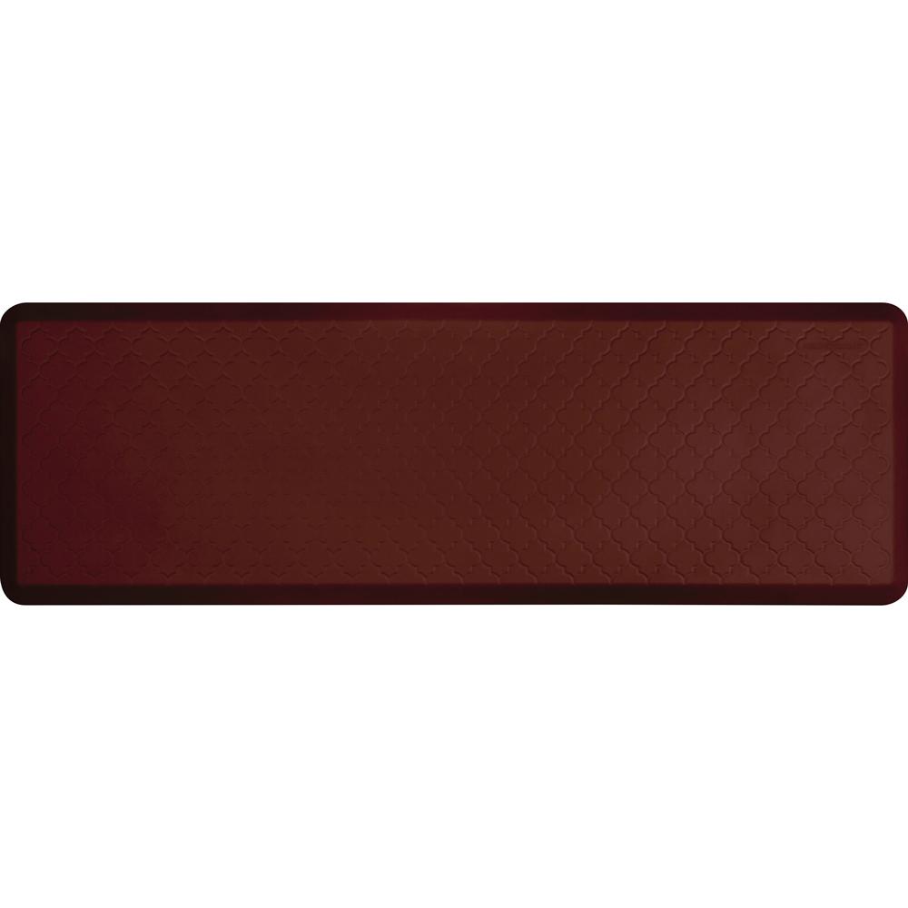 Wellness Mats PMT62WMRBUR Trellis Motif Mat w/ No-Trip Beveled Edge & Non-Slip Material, 6x2-ft, Burgundy