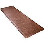Wellness Mats PMT62WMRLT Trellis Motif Mat w/ No-Trip Beveled Edge & Non-Slip Material, 6x2-ft, Antique Light