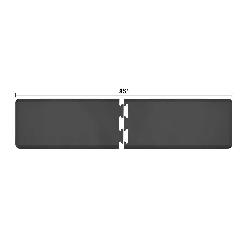 Wellness Mats RS2WMP85BLK Puzzle Piece Runner w/ Non-Slip Top & Bottom, 8.5x2-ft, Black