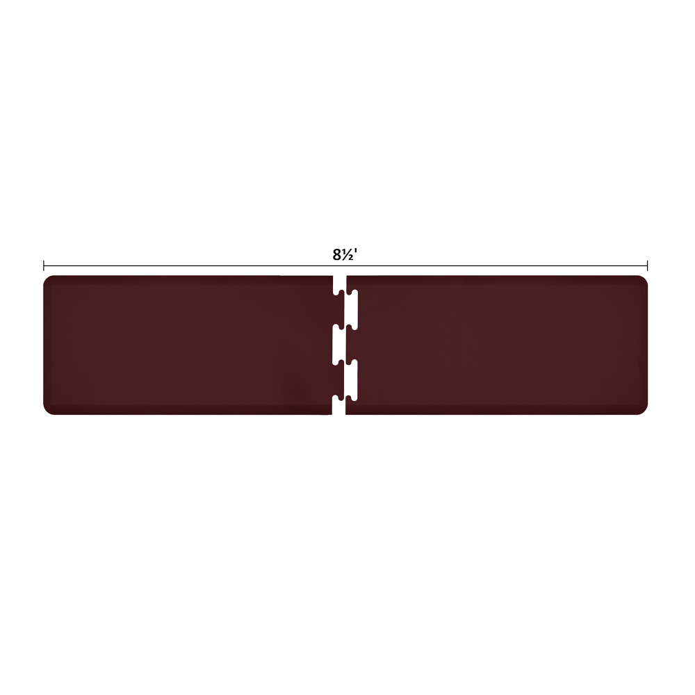 Wellness Mats RS2WMP85BUR Puzzle Piece Runner w/ Non-Slip Top & Bottom, 8.5x2-ft, Burgundy