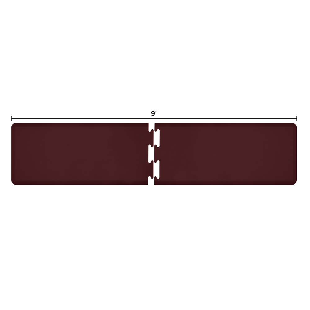 Wellness Mats RS2WMP90BUR Puzzle Piece Runner w/ Non-Slip Top & Bottom, 9x2-ft, Burgundy