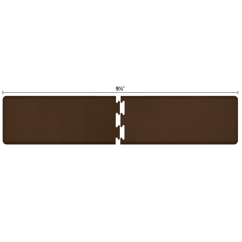 Wellness Mats RS2WMP95BRN Puzzle Piece Runner w/ Non-Slip Top & Bottom, 9.5x2-ft, Brown