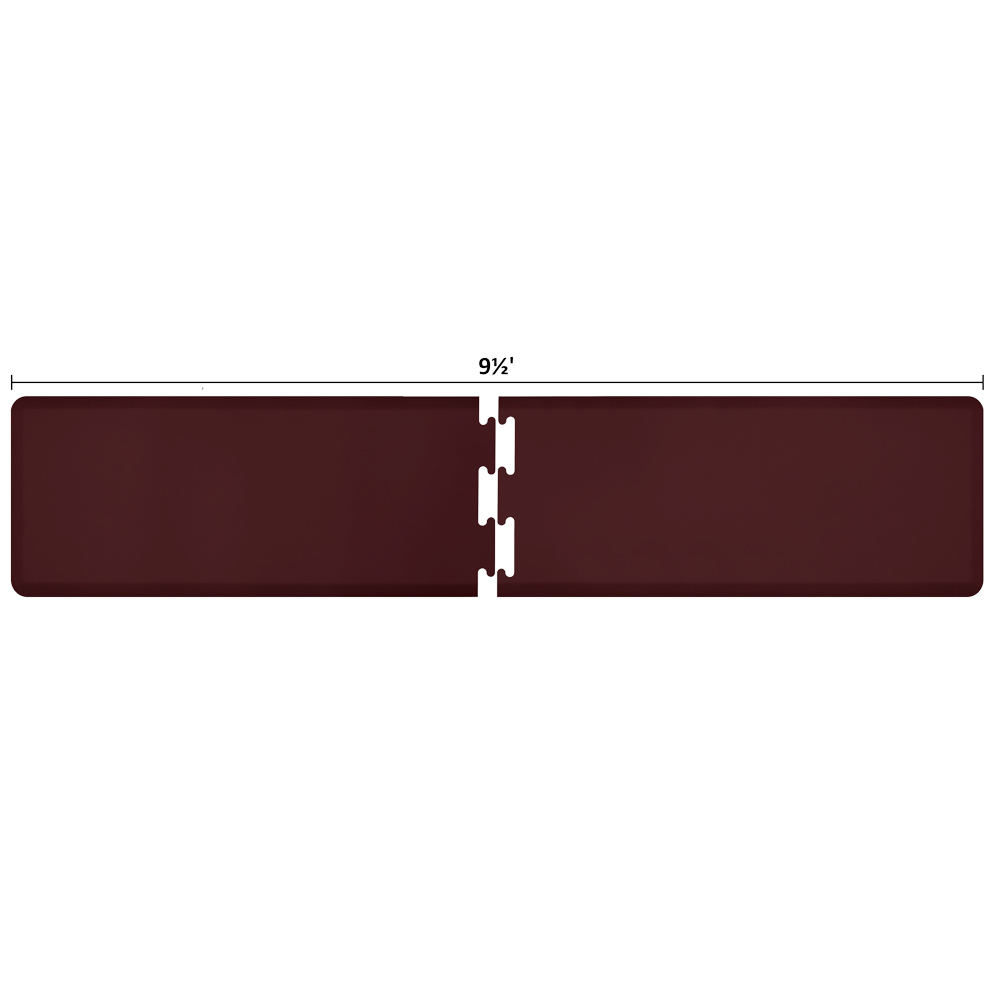 Wellness Mats RS2WMP95BUR Puzzle Piece Runner w/ Non-Slip Top & Bottom, 9.5x2-ft, Burgundy