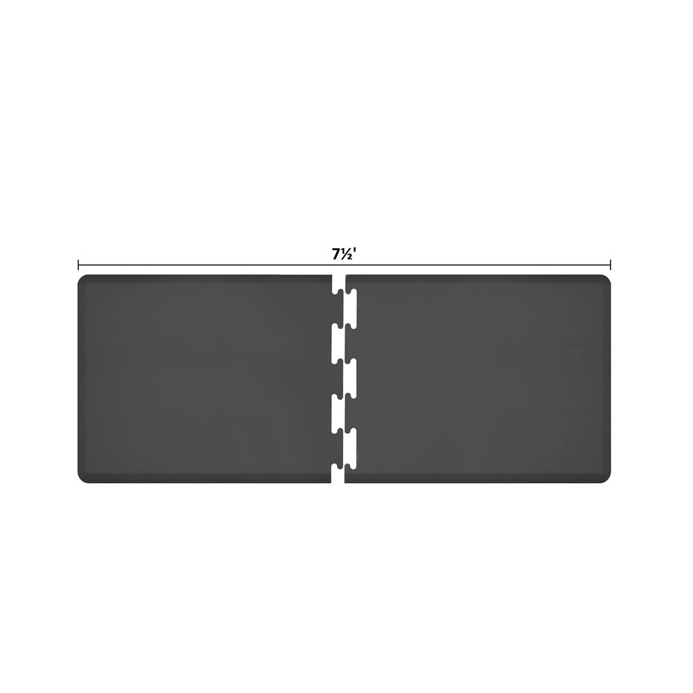 Wellness Mats RS3WMP75BLK Puzzle Piece Runner w/ Non-Slip Top & Bottom, 7.5x3-ft, Black