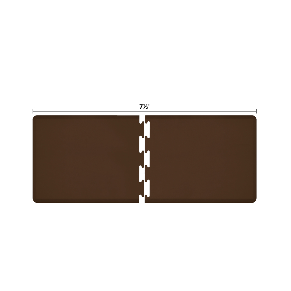 Wellness Mats RS3WMP75BRN Puzzle Piece Runner w/ Non-Slip Top & Bottom, 7.5x3-ft, Brown