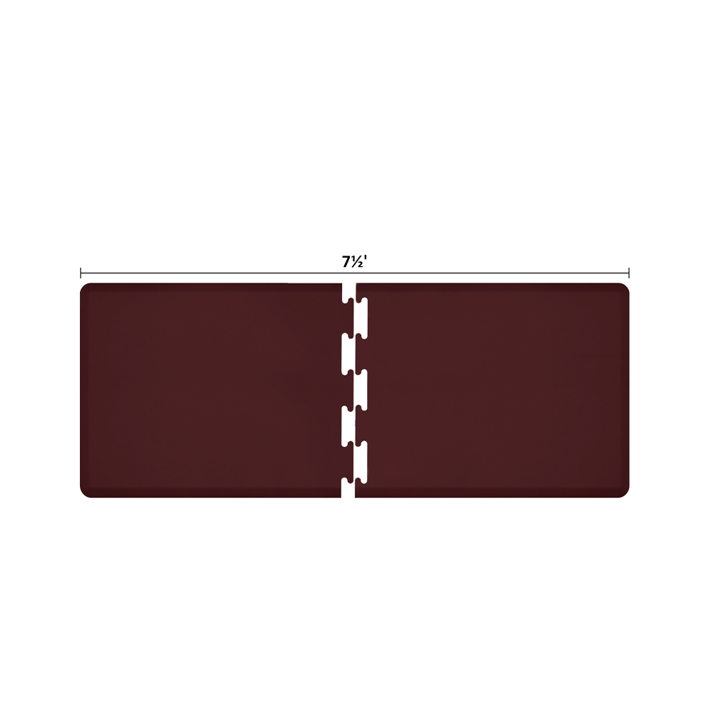 Wellness Mats RS3WMP75BUR Puzzle Piece Runner w/ Non-Slip Top & Bottom, 7.5x3-ft, Burgundy