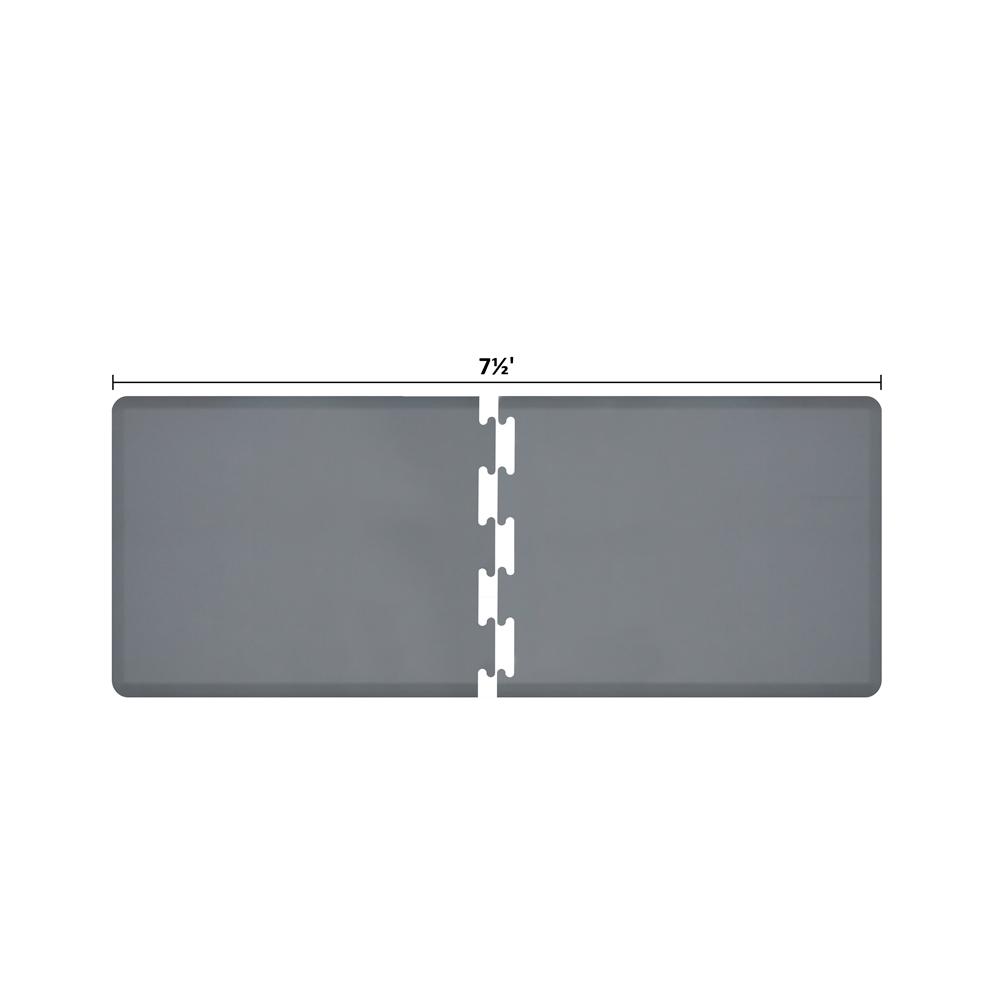 Wellness Mats RS3WMP75GRY Puzzle Piece Runner w/ Non-Slip Top & Bottom, 7.5x3-ft, Gray
