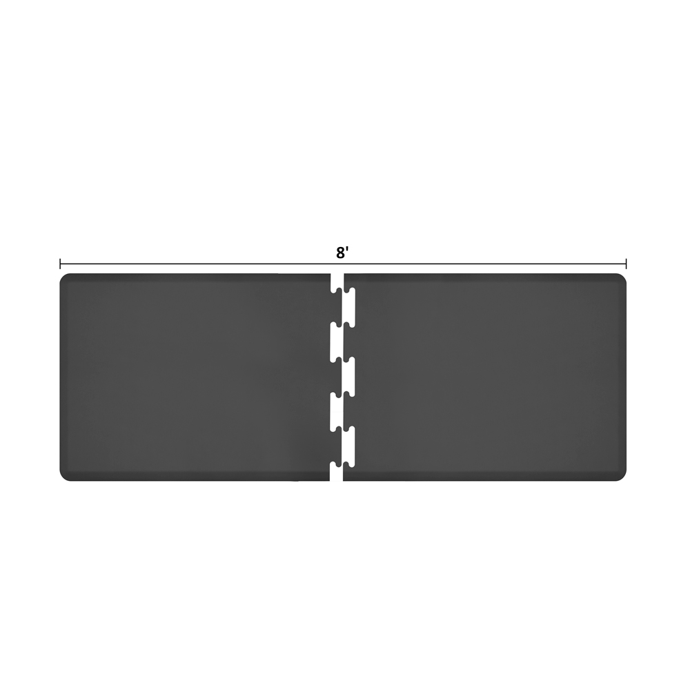 Wellness Mats RS3WMP80BLK Puzzle Piece Runner w/ Non-Slip Top & Bottom, 8x3-ft, Black