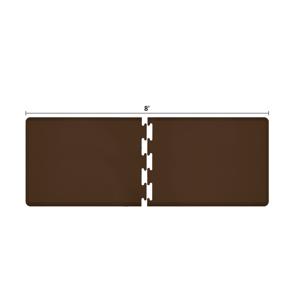 Wellness Mats RS3WMP80BRN Puzzle Piece Runner w/ Non-Slip Top & Bottom, 8x3-ft, Brown