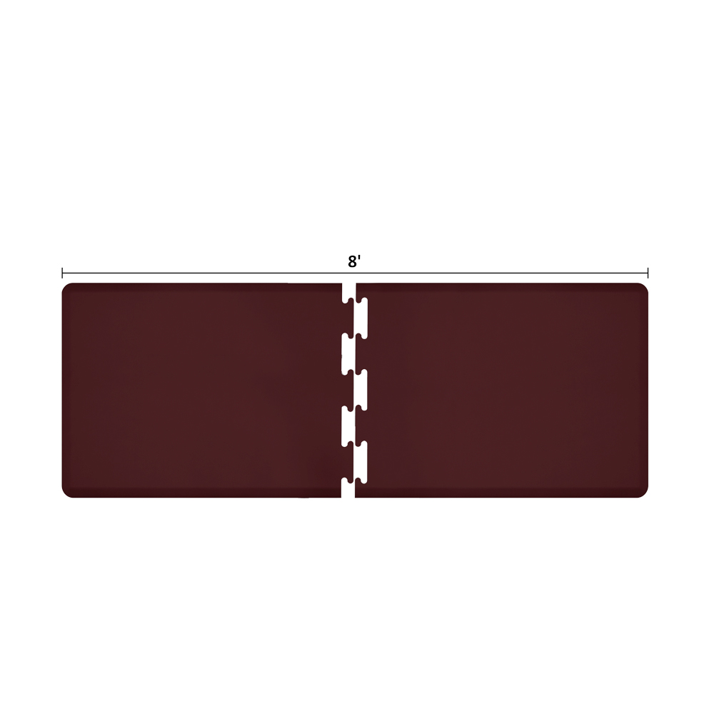 Wellness Mats RS3WMP80BUR Puzzle Piece Runner w/ Non-Slip Top & Bottom, 8x3-ft, Burgundy