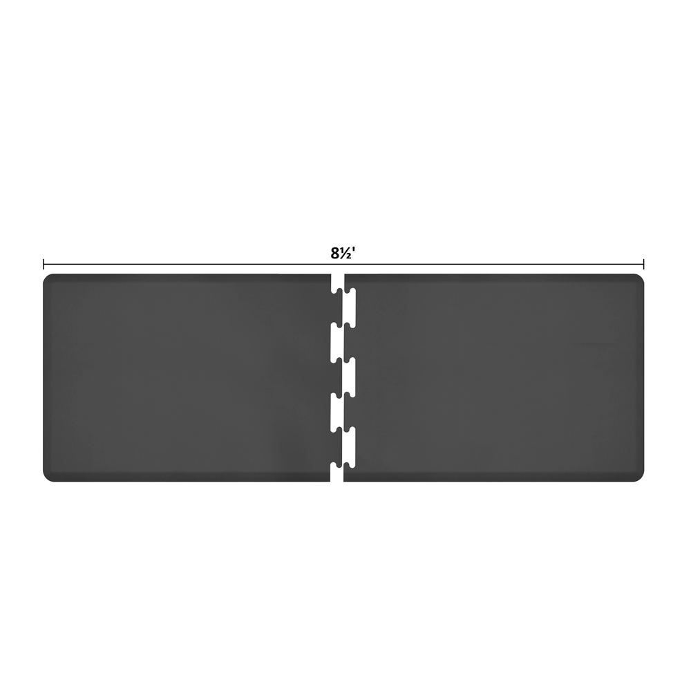 Wellness Mats RS3WMP85BLK Puzzle Piece Runner w/ Non-Slip Top & Bottom, 8.5x3-ft, Black