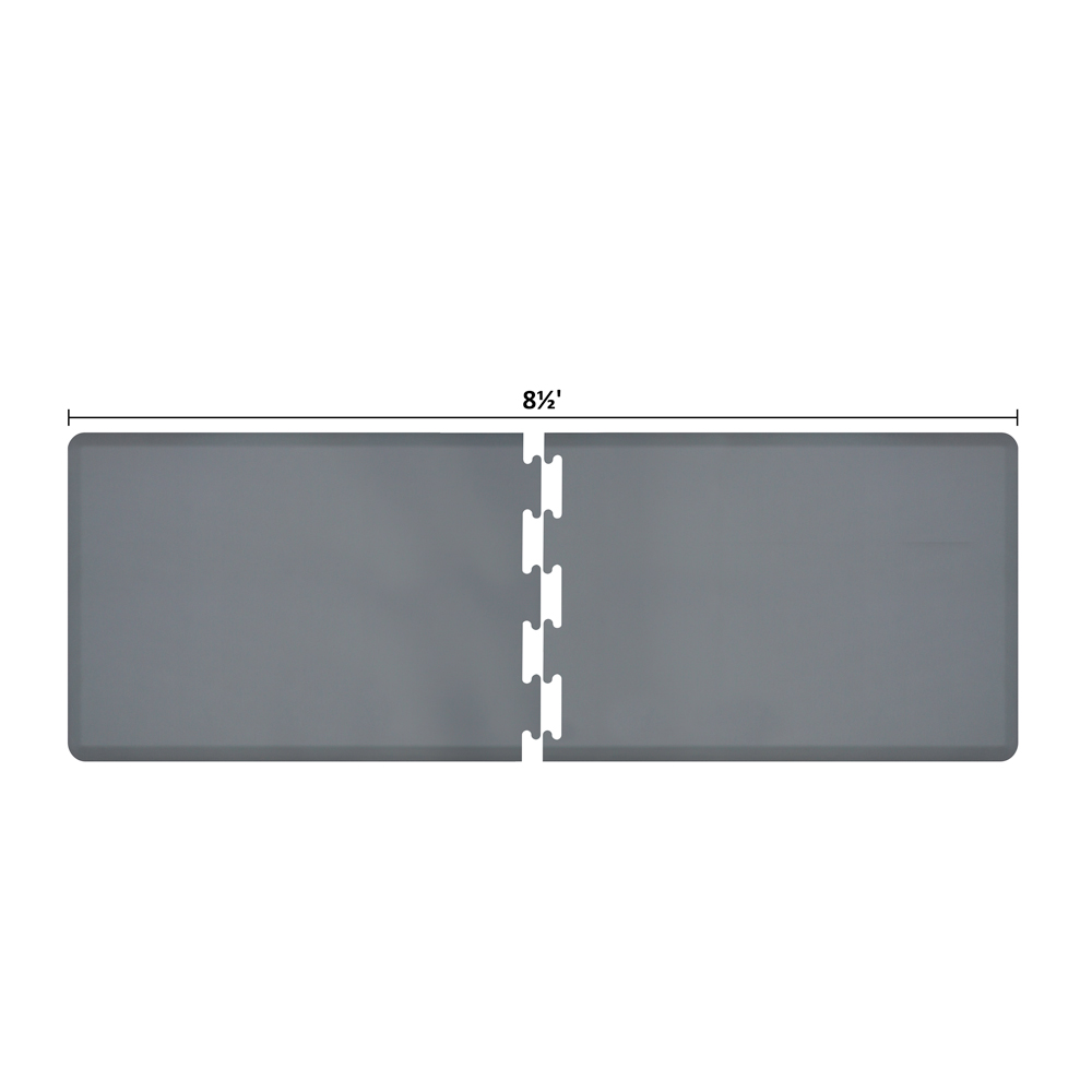 Wellness Mats RS3WMP85GRY Puzzle Piece Runner w/ Non-Slip Top & Bottom, 8.5x3-ft, Gray