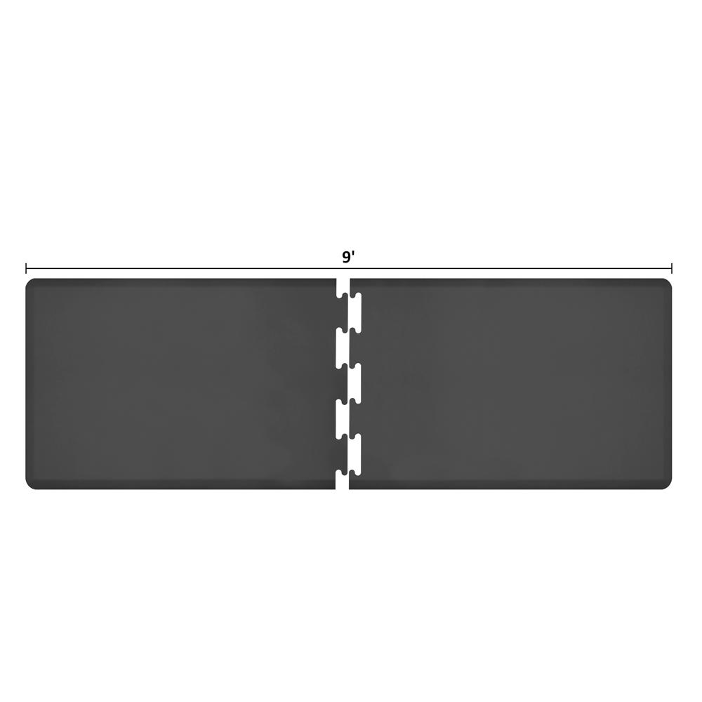 Wellness Mats RS3WMP90BLK Puzzle Piece Runner w/ Non-Slip Top & Bottom, 9x3-ft, Black