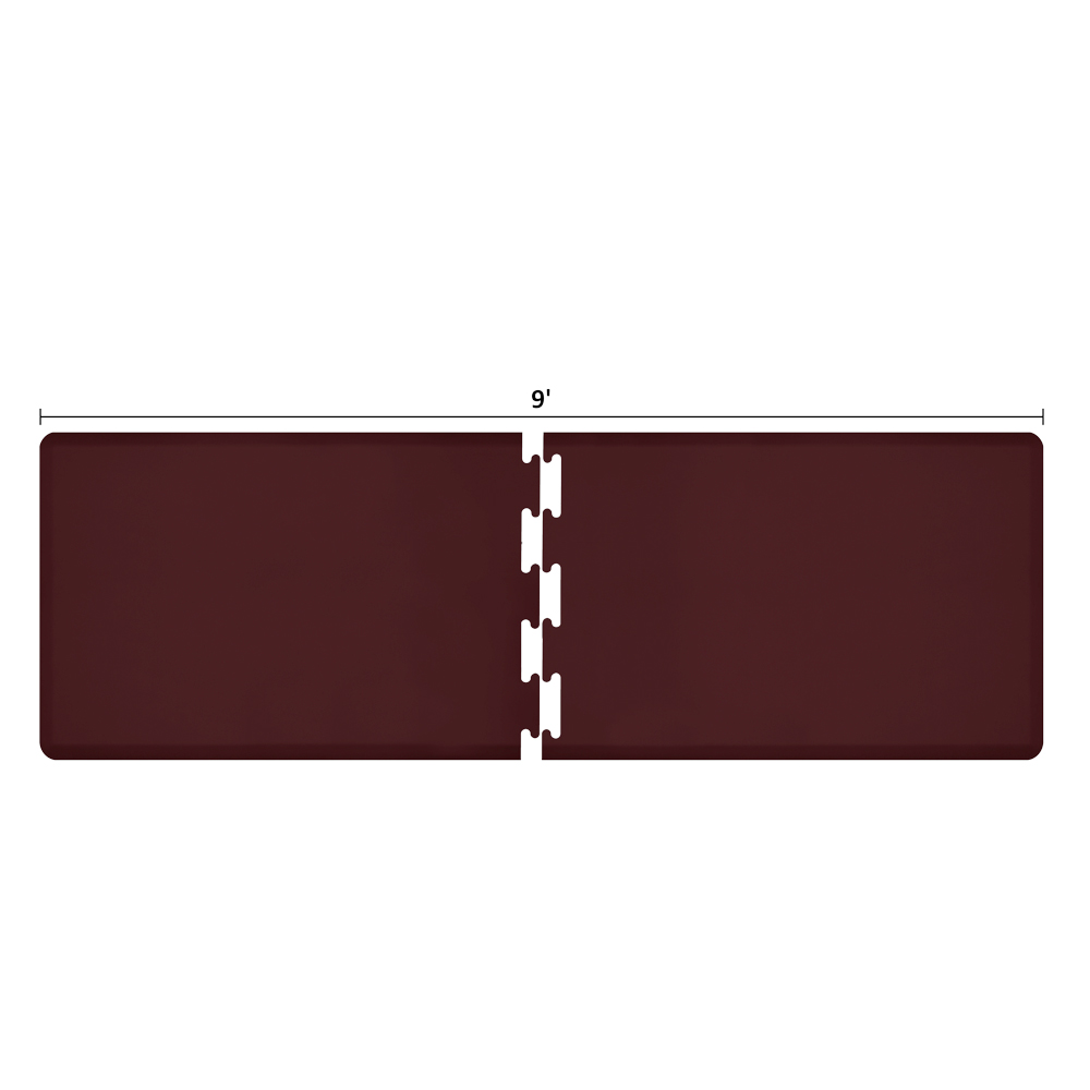 Wellness Mats RS3WMP90BUR Puzzle Piece Runner w/ Non-Slip Top & Bottom, 9x3-ft, Burgundy