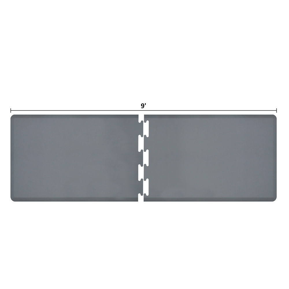 Wellness Mats RS3WMP90GRY Puzzle Piece Runner w/ Non-Slip Top & Bottom, 9x3-ft, Gray