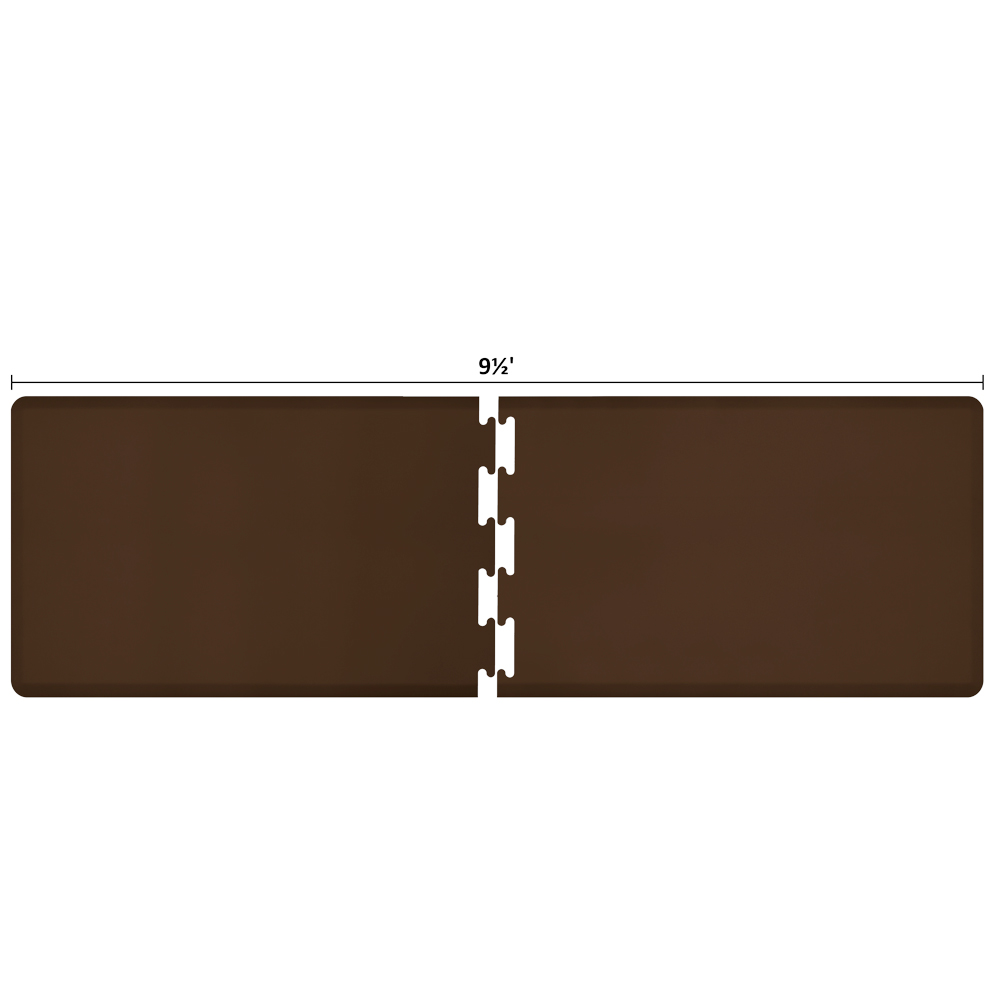 Wellness Mats RS3WMP95BRN Puzzle Piece Runner w/ Non-Slip Top & Bottom, 9.5x3-ft, Brown