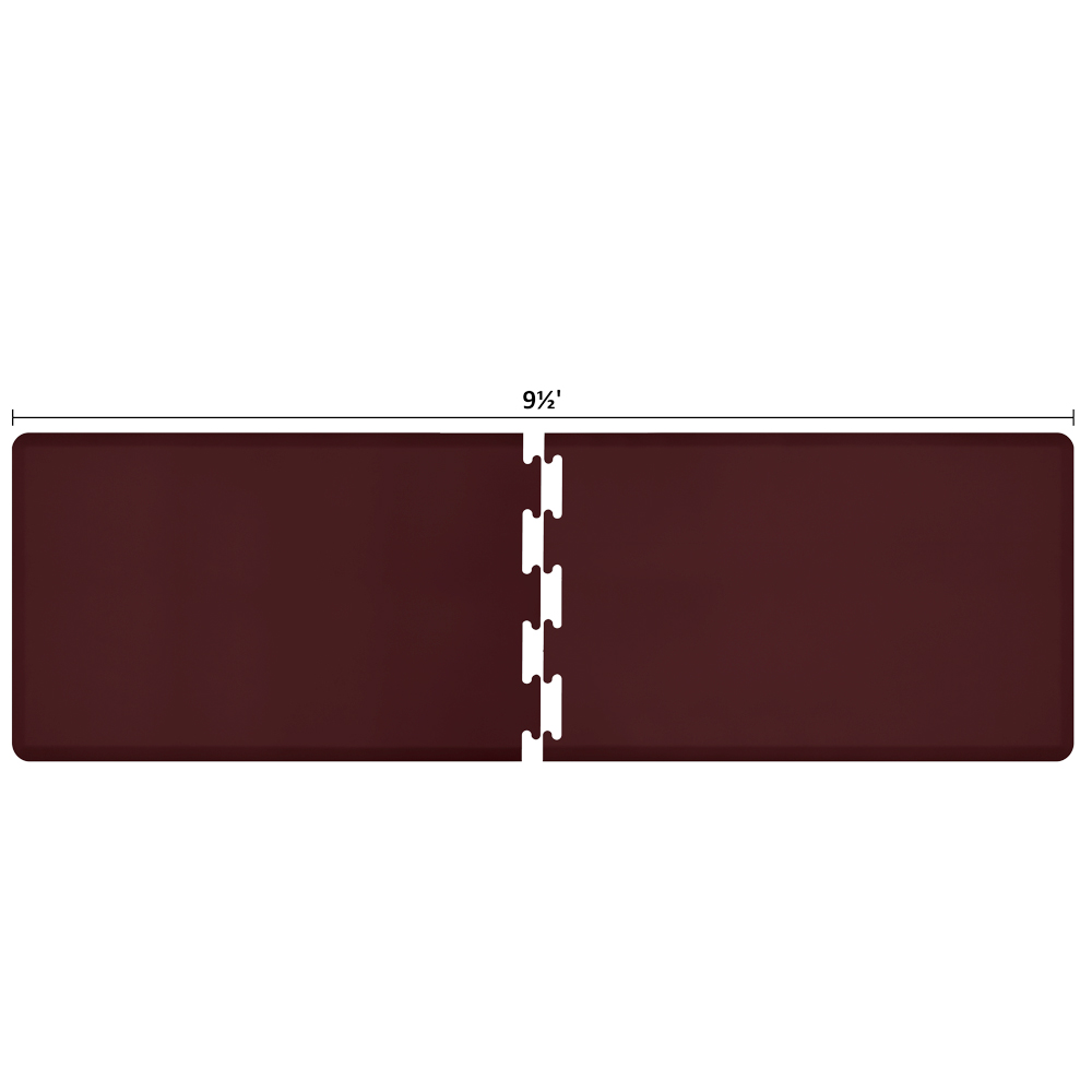 Wellness Mats RS3WMP95BUR Puzzle Piece Runner w/ Non-Slip Top & Bottom, 9.5x3-ft, Burgundy