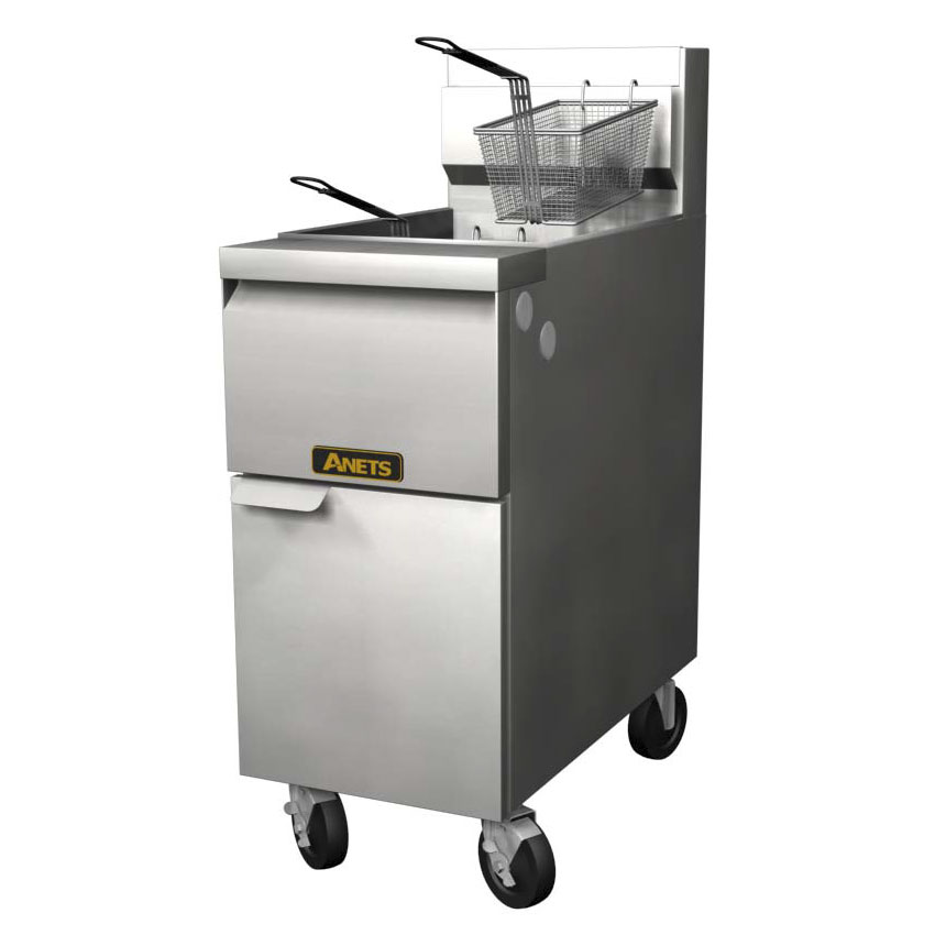 Anets 14GS Gas Fryer - (1) 50-lb Vat, Floor Model, NG