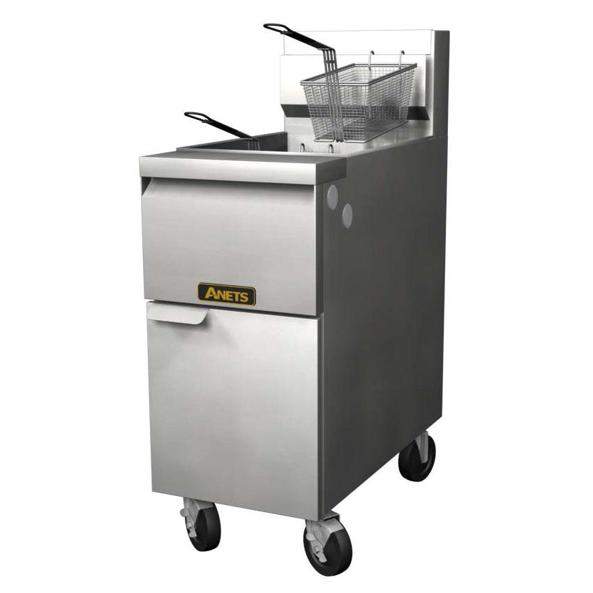 Anets 14GS NG Gas Fryer - (1) 50-lb Vat, Floor Model, NG
